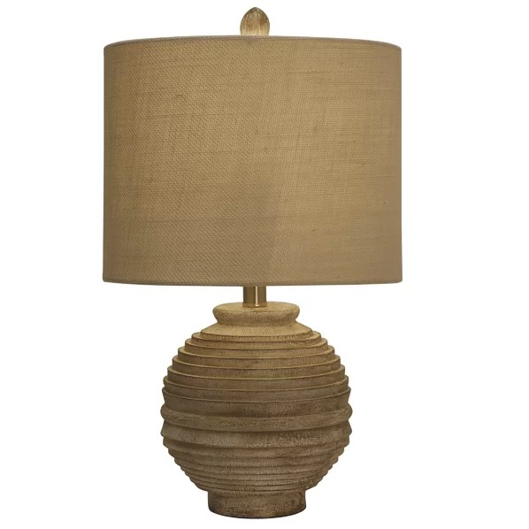 TABLE LAMP ROUND BEIGE