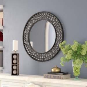 JEWELED ROUND WALL MIRROR